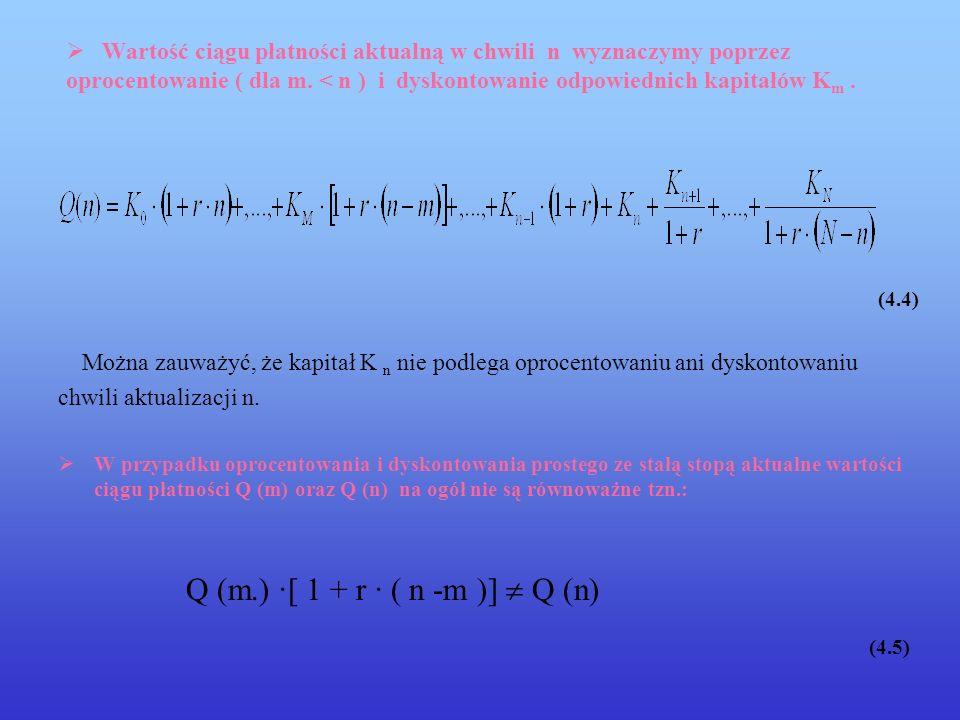 (4.5) Q (m.) ·[ 1 + r · ( n -m )]  Q (n)